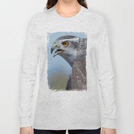 Northern Goshawk Screeching Long Sleeve T-shirt