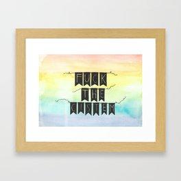 Fuck the cistem Framed Art Print