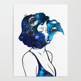 blowing  universe mind. Poster