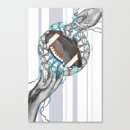 The perfect pass / American football Canvas Print