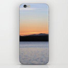 Sunset lake iPhone Skin