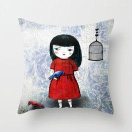 Blanca Bird Throw Pillow
