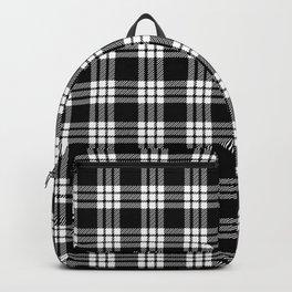 MacFarlane Black + White Tartan Modern Backpack