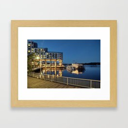 Nice place for romantic meeting Framed Art Print