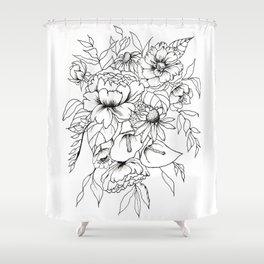 Botanical Bouquet Shower Curtain