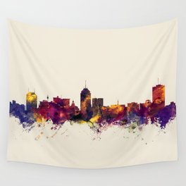 Fresno California Skyline Wall Tapestry