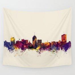 Fresno California Skyline Wall Tapestry