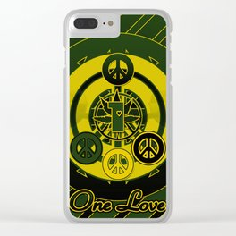 One Love (Green) Clear iPhone Case