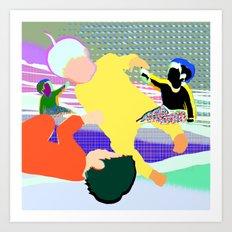 Gravitypeople Art Print