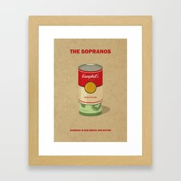 The Sopranos Minimalist Poster - Garbage is our bread and butter Framed Art Print