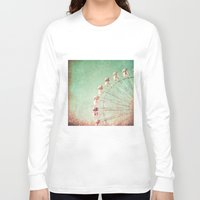 ferris wheel Long Sleeve T-shirts featuring Ferris Wheel by Caroline Mint