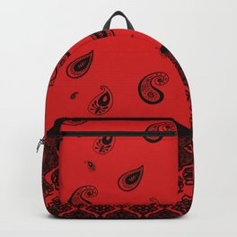 Bandana Red Backpack