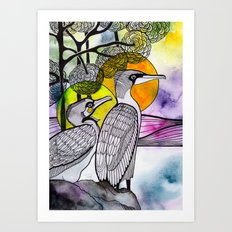 Cormorants Art Print