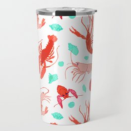 Dance of the Crustaceans in Pearl White Travel Mug