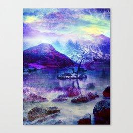 Abstract Winter Lake Canvas Print