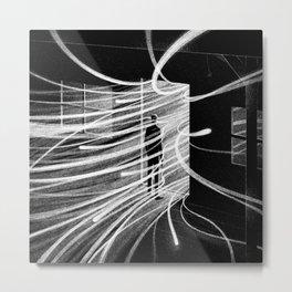 Drawlloween 2015: Haunted house Metal Print