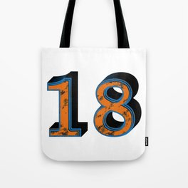 Eighteen Tote Bag