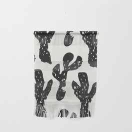 Dancing Cactus Pattern Wall Hanging