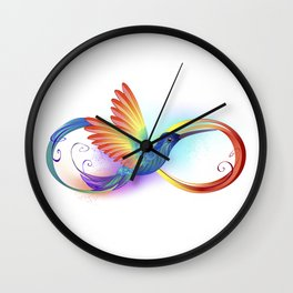 Rainbow Hummingbird with Infinity Wall Clock