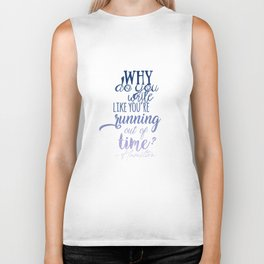 Running out of time   Hamilton Biker Tank
