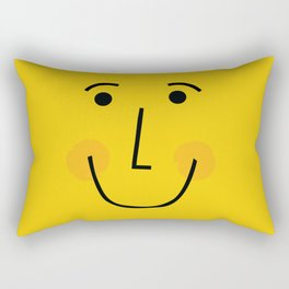 Smiley Face in Yellow Rectangular Pillow