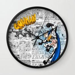 Cowman Comic Poster Wall Clock
