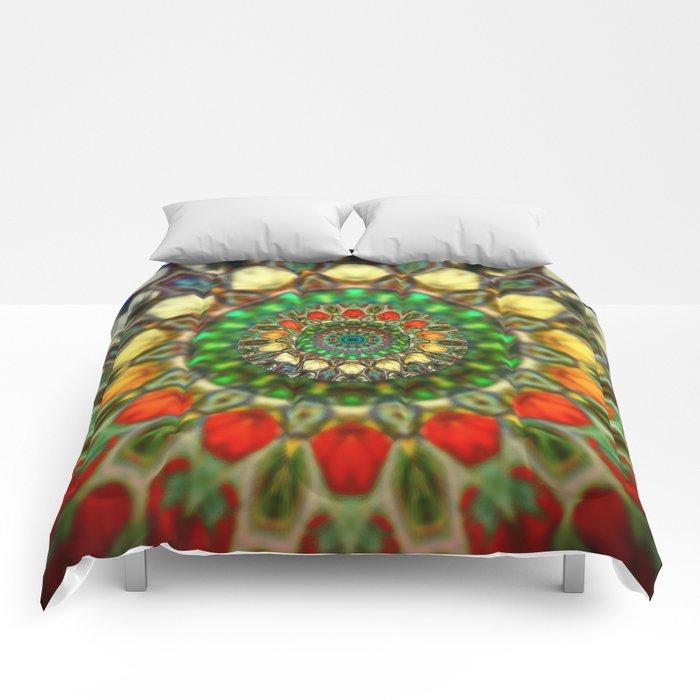 Sun Mandala 2 Comforters