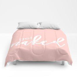 Bathroom Decor // get naked - white on light pink Comforters