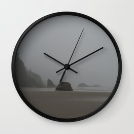 Barren Coast in Cannon Beach Wall Clock