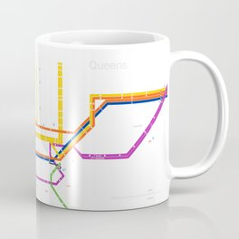 New York City subway map Coffee Mug