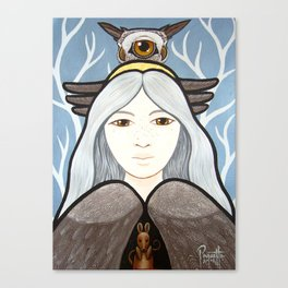 Ohow - Owl Canvas Print
