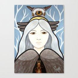 Ohow - Owl Canvas Print