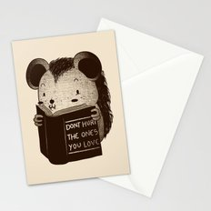 Hedgehog Book Don't Hurt The Ones You Love Stationery Cards