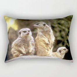 Act Natural Meerkats Rectangular Pillow