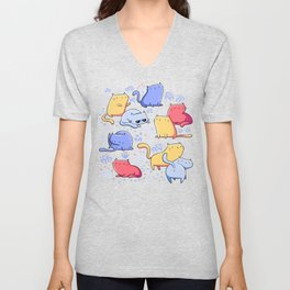 A Lot of Cats / Out at night Unisex V-Neck