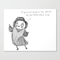 My Life On The Internet Canvas Print