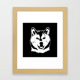 SHIBA INU JAPANESE DOG Framed Art Print