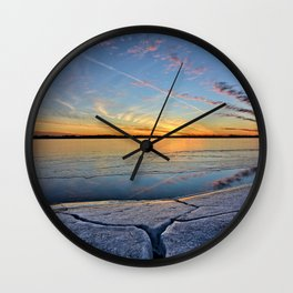 Sunset Crack 2 Wall Clock