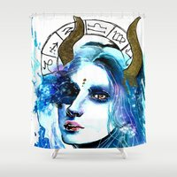 taurus Shower Curtains featuring Taurus by Gabi Xavier