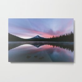 Sunrise at Mt Hood Metal Print