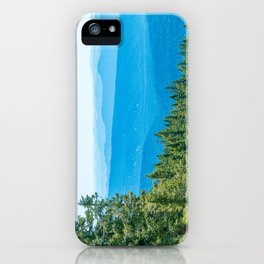 Artistic Brush // Grainy Scenic View of Rolling Hills Mountains Forest Landscape Photography iPhone Case