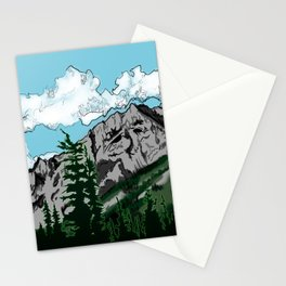 Aged Mountains  Stationery Cards