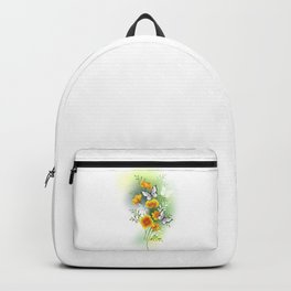 California Poppy with Butterflies Backpack