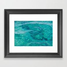 Mediterranean Water Framed Art Print