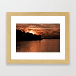 Red Sky At Night Photography Print Framed Art Print