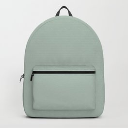 Solid Grey Green Backpack
