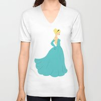cinderella V-neck T-shirts featuring Cinderella by Eva Duplan Illustrations
