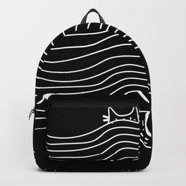 Cat under Backpack