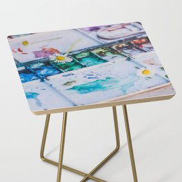 Watercolor Side Table
