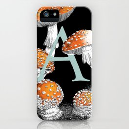 A is for Amanita muscaria iPhone Case